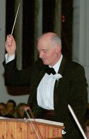 Reg Searle, conductor of the Sinfonia